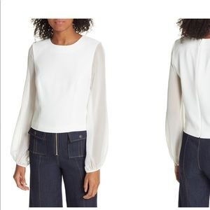 Elissa Sheer Sleeve Top. NWT.
